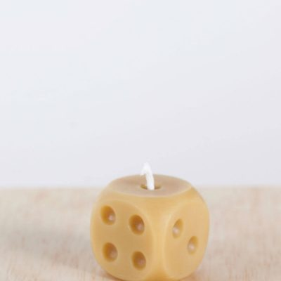 Dice 01 100% Pure Beeswax Candle