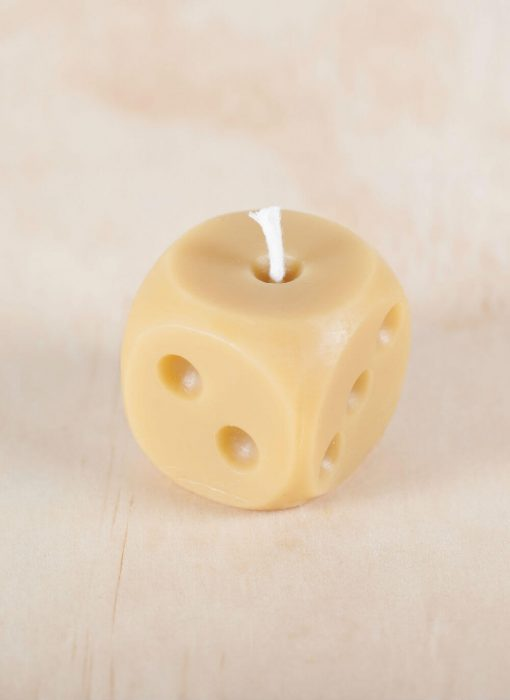 Dice 02 100% Pure Beeswax Candle