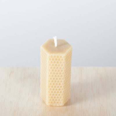 Hexagonal Honeycomb 01 100% Pure Beeswax Candle
