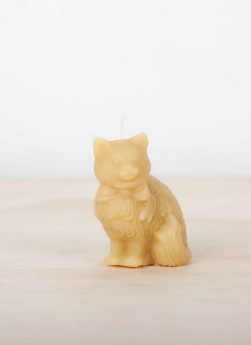 Cat 01 100% Pure Beeswax Candle