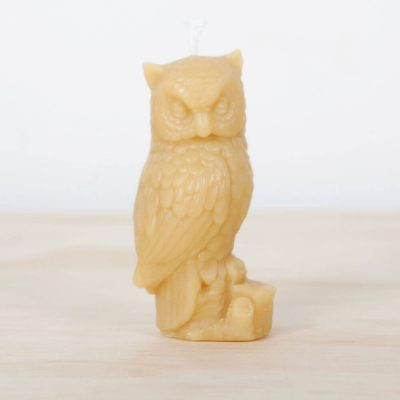 Owl 01 100% Pure Beeswax Candle