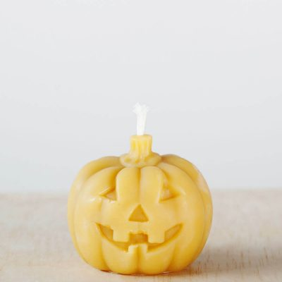 Scary Pumpkin 01 100% pure Beeswax Candle