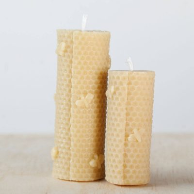 Hand Rolled Effect Group 01 100% Pure Beeswax Candle
