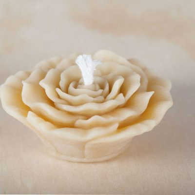 Rose 01 100% Pure Beeswax Candle