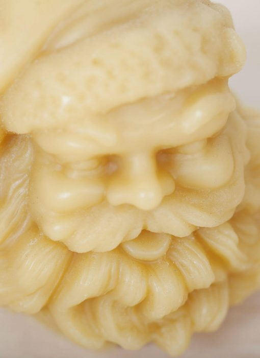 100% Pure Beeswax Candle Santa Head 04
