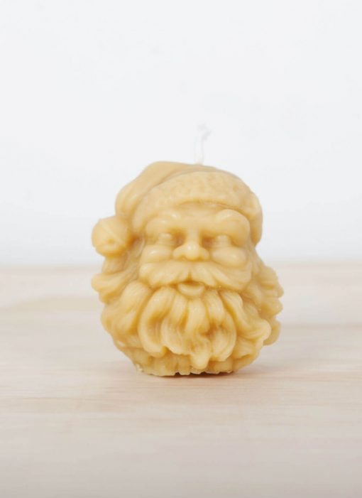 100% Pure Beeswax candle Santa Head 01