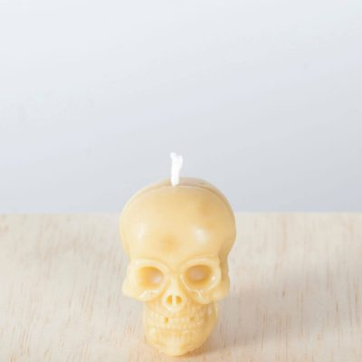 Skull 01 100% Pure Beeswax Candle